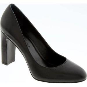 Banana Republic black round tie Canta heels
